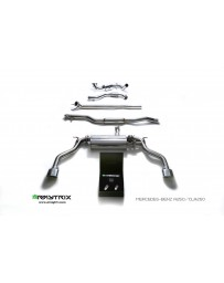 ARMYTRIX Stainless Steel Valvetronic Catback Exhaust System Dual Matte Black Tips Mercedes-Benz CLA250 4WD C117 14-17