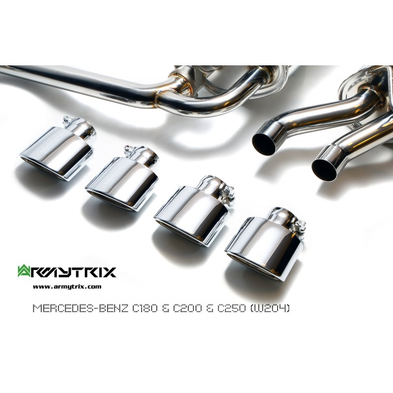 Armytrix stainless steel valvetronic performance catback for Mercedes benz performance exhaust