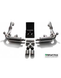 ARMYTRIX Stainless Steel Valvetronic Exhaust System Dual Chrome Silver Tips Porsche 718 Boxster | Cayman 17-18