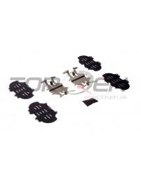 370z Nissan OEM Caliper Brake Pad Hardware Shim Kit, Front Akebono Sport