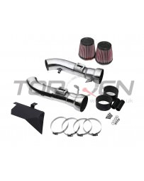 370z Top Speed Pro-1 Polished T304 Stainless Steel Dual Intake Kit with K&N Air Filters