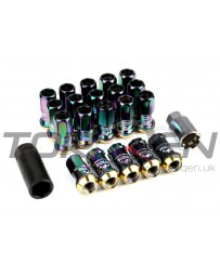 370z Project Kics R40 Racing Lug Nuts with Locks M12x1.25mm Neo Chrome