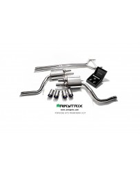 ARMYTRIX Stainless Steel Valvetronic Exhaust System Quad Matte Black Tips Porsche 970 Panamera 3.0T 14-16