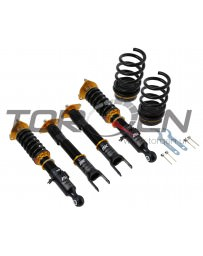 370z ISC Suspension N1 Basic Coilovers, Rubber Top Mounts