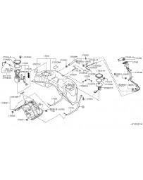 370z Nissan OEM Fuel Cap Clip
