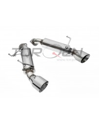 370z Top Speed Pro-1 Stainless Steel Axle Back Exhaust System, Dual Wall Bevel Tip