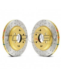 350z DBA HD Series 4000XS Series Drilled and Slotted Vented 1-Piece Rear Brake Rotor - Pair of 2
