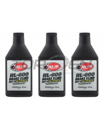 R34 Red Line RL-600 Racing Brake Fluid - 16 oz - 3 Pack