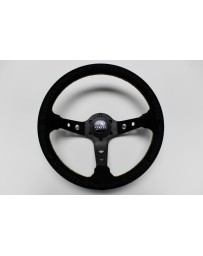 "350z Vertex ""King"" 330mm Steering Wheel in Black Suede"