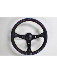 350z VERTEX SPEED STEERING WHEEL BLUE & PINK