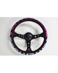 350z VERTEX 1996 STEERING WHEEL PINK