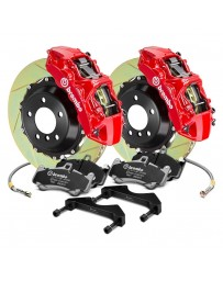 R34 Brembo GT Series Slotted 2-Piece Rotor Front Big Brake Kit - Red