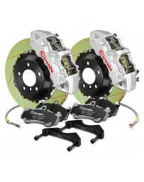 R34 Brembo GT Series Slotted 2-Piece Rotor Front Big Brake Kit - Silver