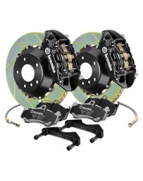 R34 Brembo GT Series Slotted 2-Piece Rotor Front Big Brake Kit - Black