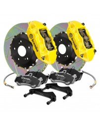 R34 Brembo GT Series Slotted 2-Piece Rotor Front Big Brake Kit - Yellow