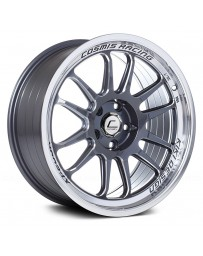 "COSMIS RACING - XT-206R Gunmetal with Machined Lip (18"" x 11"", +8 Offset, 5x114.3 Bolt Pattern, 73.1mm Hub)"
