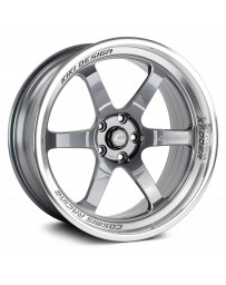 "COSMIS RACING - XT-006R Gunmetal with Machined Lip (18"" x 9.5"", +10 Offset, 5x114.3 Bolt Pattern, 73.1mm Hub)"