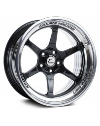 "COSMIS RACING - XT-006R Black with Machined Lip (18"" x 9.5"", +10 Offset, 5x114.3 Bolt Pattern, 73.1mm Hub)"