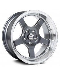 "COSMIS RACING - XT-005R Gunmetal with Machined Lip and Milled Spokes (18"" x 9"", +25 Offset, 5x120.65 Bolt Pattern, 74.1mm Hub)"