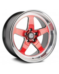 "COSMIS RACING - XT-005R Red with Machined Lip (18"" x 10"", +20 Offset, 5x114.3 Bolt Pattern, 73.1mm Hub)"