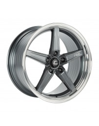 COSMIS RACING - Cosmis Racing R5 18x9.5 +25mm 5x120 COLOR: Gun Metal with Machined Lip
