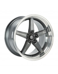 COSMIS RACING - R5 18x10.5 +22mm 5x120 COLOR: Gun Metal with Machined Lip