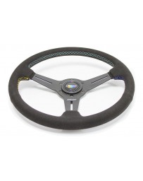 370z GReddy GPP Black Suede Steering Wheel - 340mm Diameter