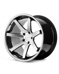 Ferrada FR1 Machine Black Chrome Lip 22x9.5 Bolt 5x112 Offset +15 Hub Size 66.6 Backspace 5.84