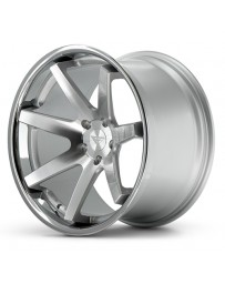 Ferrada FR1 Machine Silver Chrome Lip 22x9.5 Bolt 5x4.75 Offset +15 Hub Size 74.1 Backspace 5.84