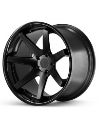 Ferrada FR1 Matte Black Gloss Black Lip 22x9 Bolt 5x112 Offset +30 Hub Size 66.6 Backspace 6.18