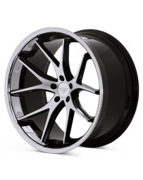 Ferrada FR2 Machine Black Chrome Lip 22x9 Bolt 5x4.75 Offset +30 Hub Size 74.1 Backspace 6.18