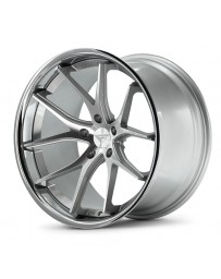 Ferrada FR2 Machine Silver Chrome Lip 20x9 Bolt 5x112 Offset +23 Hub Size 66.6 Backspace 5.91