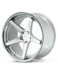 Ferrada FR3 Machine Silver Chrome Lip 20x10.5 Bolt : 5x4.25 Offset : +38 Hub Size : 73.1 Backspace : 7.25
