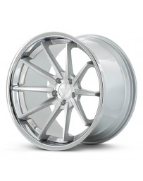 Ferrada FR4 Machine Black Chrome Lip 19x8.5 Bolt : 5x112 Offset : +42 Hub Size : 66.6 Backspace : 6.4