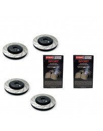 350z StopTech Discs & Sport Performance Pads kit for Brembo brakes - DRILLED