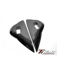 Nissan GT-R R35 Titek Carbon Fiber Dash Vent Side Cover - Gloss