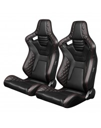 BRAUM ELITE-X SERIES RACING SEATS ( DIAMOND ED. - RED STITCHING ) – PAIR