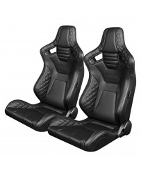 BRAUM ELITE-X SERIES RACING SEATS ( DIAMOND ED. - GREY STITCHING ) – PAIR