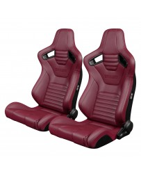 BRAUM ELITE-X SERIES RACING SEATS (MAROON LEATHERETTE) – PAIR