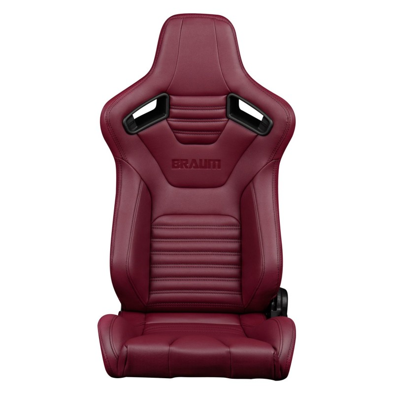 BRAUM ELITE-X SERIES RACING SEATS (MAROON LEATHERETTE ...