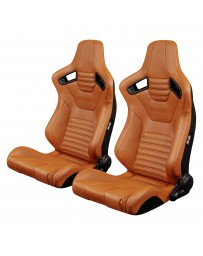 BRAUM ELITE-X SERIES RACING SEATS (BRITISH TAN LEATHERETTE) – PAIR