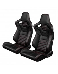 BRAUM ELITE-X SERIES RACING SEATS (RED STITCHING - VERSION 2) – PAIR