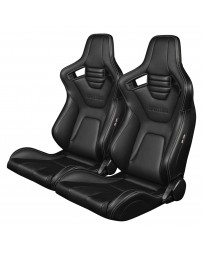 BRAUM ELITE-X SERIES RACING SEATS (WHITE STITCHING) – PAIR