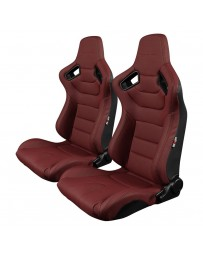 BRAUM ELITE SERIES RACING SEATS (MAROON) – PAIR