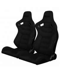 BRAUM ELITE SERIES RACING SEATS (BLACK SUEDE) – PAIR