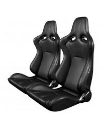 BRAUM VENOM SERIES RACING SEATS (BLACK LEATHERETTE) – PAIR