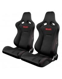 BRAUM VENOM SERIES RACING SEATS (RED STITCHING) – PAIR