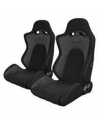 BRAUM S8 SERIES RACING SEATS (GRAY & BLACK) – PAIR