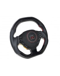 Nissan GT-R R35 DCTMS Sport Steering Wheel Flat Top Carbon Leather
