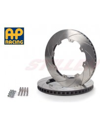 Nissan GT-R R35 AP Racing Stillen 2-Piece Replacement Rear Rotors with Hardware Slotted 09-13